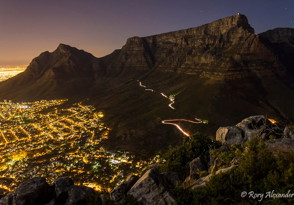 photography, rory alexander, table mountain, south africa, landscape