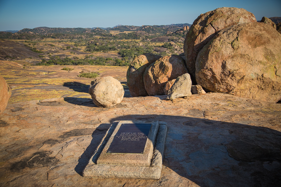 The grave of Cecil John Rhodes in Matobo National Park Zimbabwe-6570